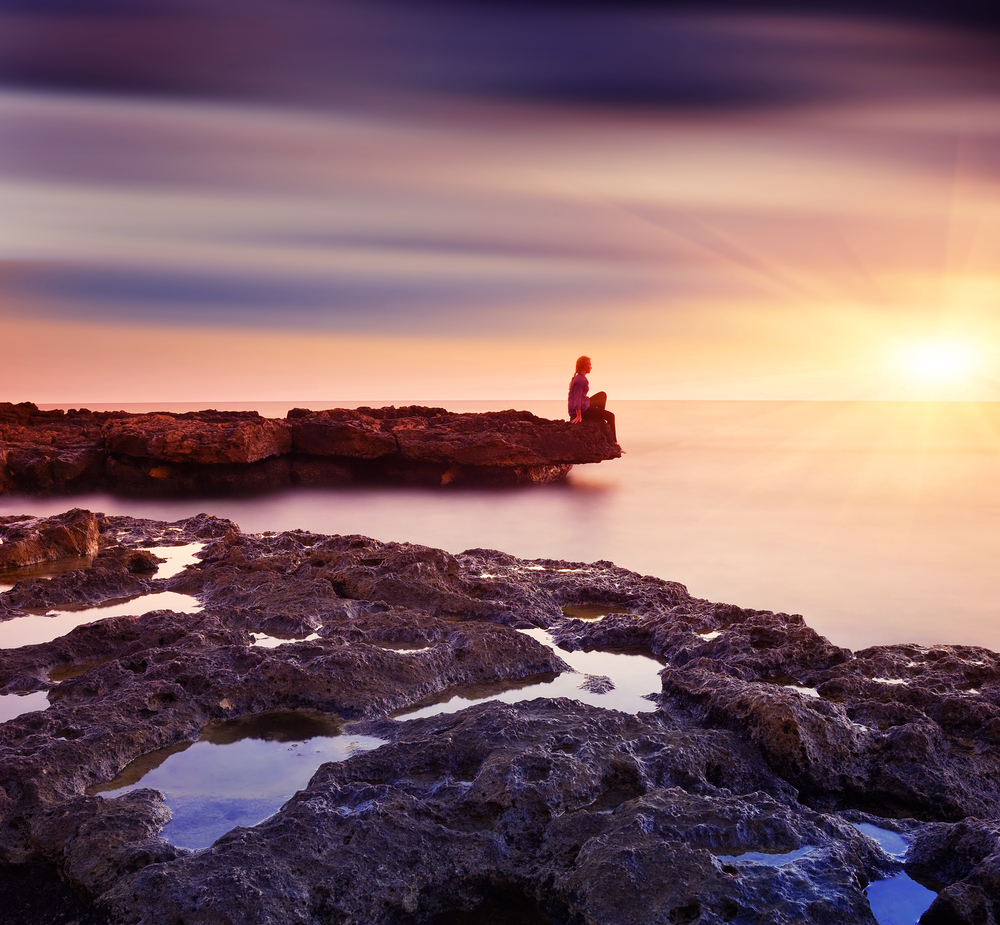 spiaggia seduto