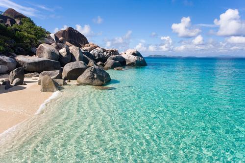spring bay tropical beach in the virgin islands