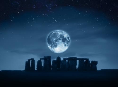 stonehenge by full moon
