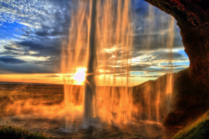 sunset in HDR Iceland