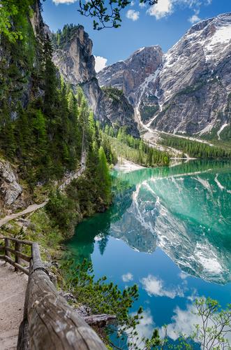 the Dolomites Lake Braies