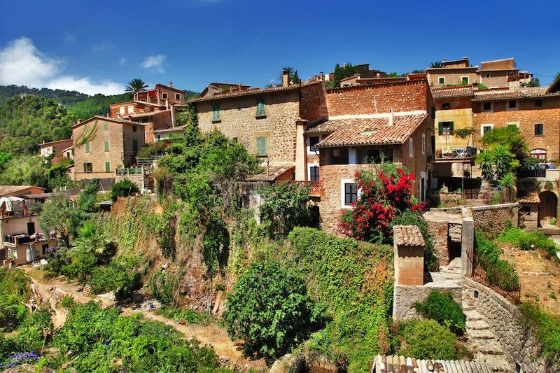 traditional stone village in Majorca Tramuntana mountain Balearic Spain jpg