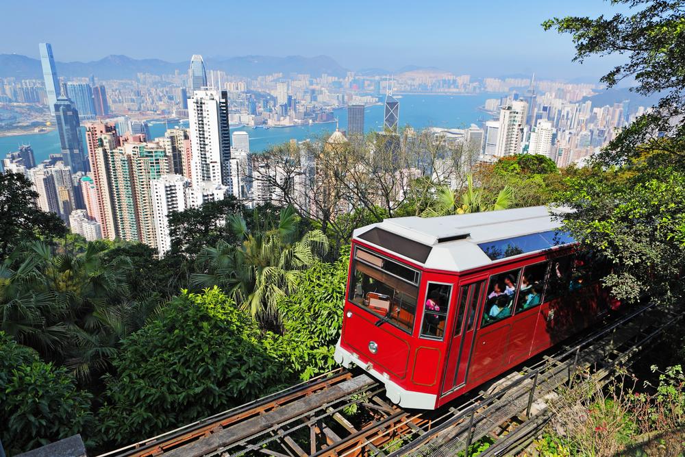 tram at the Peak Hong Kong