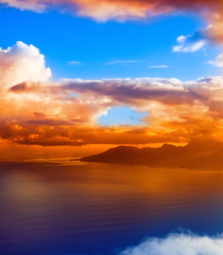 tramongto nuvole