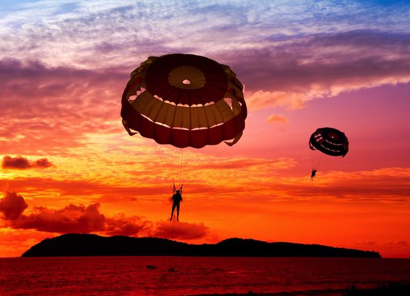 tramonto paracadute