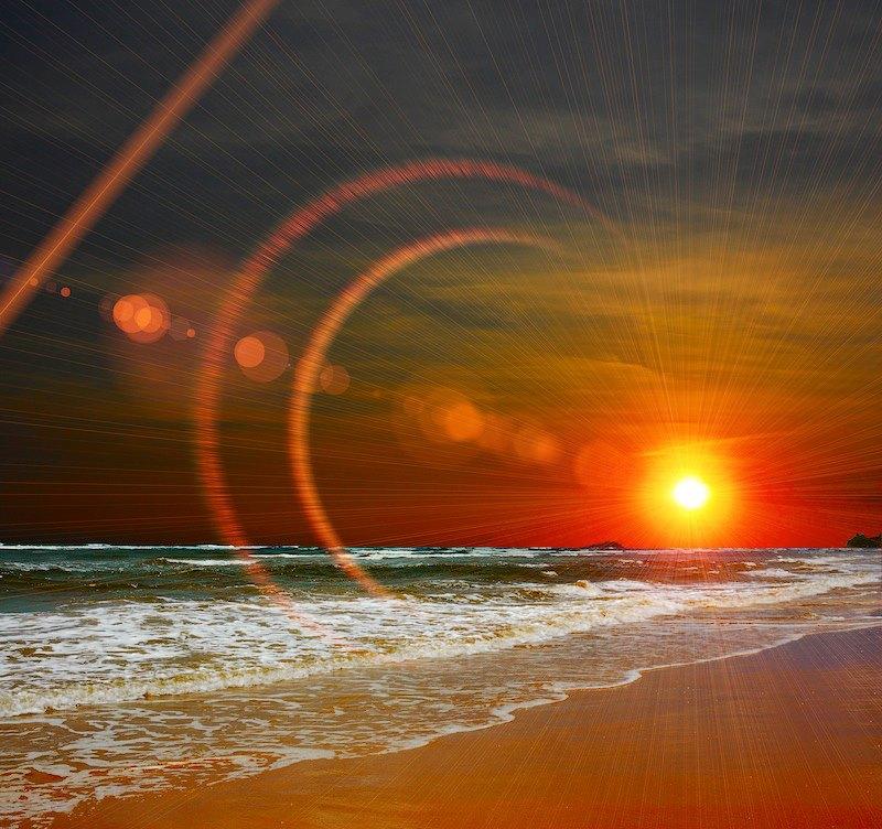 tramonto spiaggian