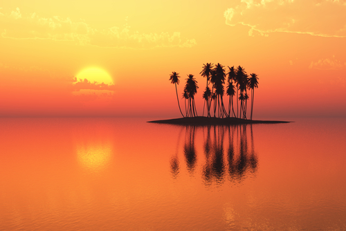 tramonto sud pacifico