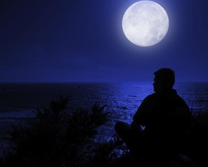 uomo luna