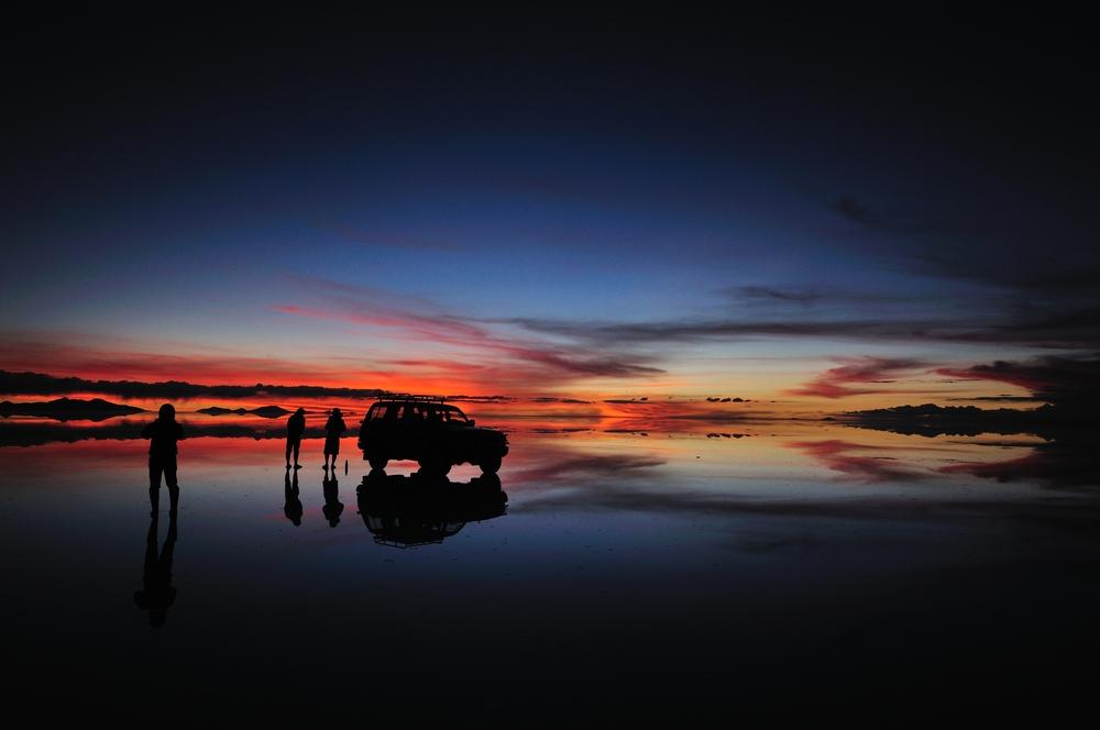 uyuni bolivia tramonto