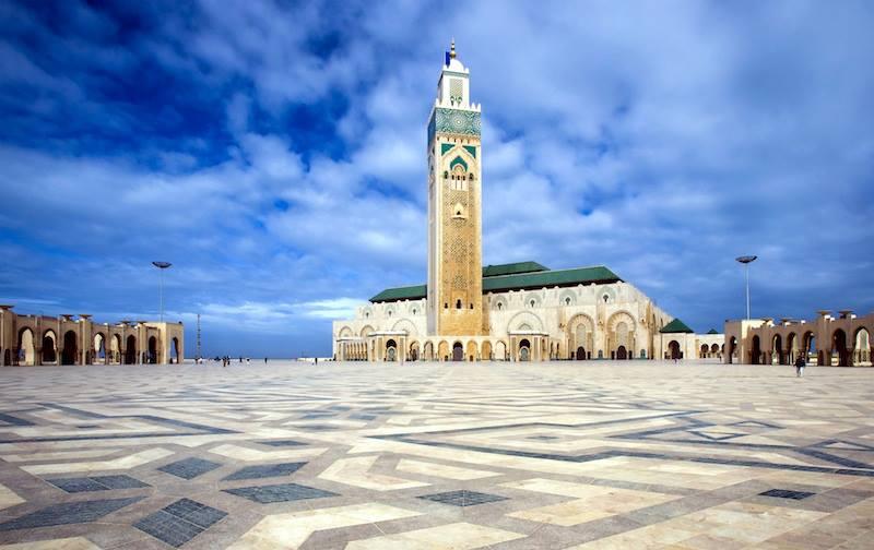 v La Moschea di Hassan II Casablanca Marocco
