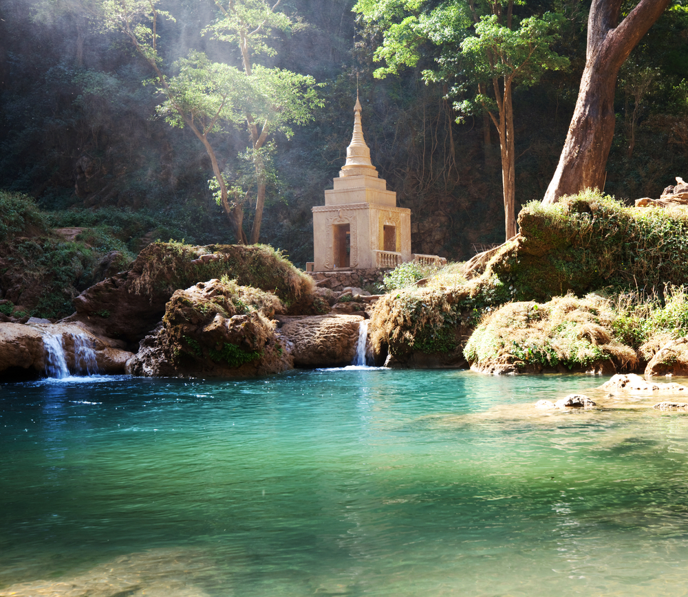 waterfall in Myanmar birmania