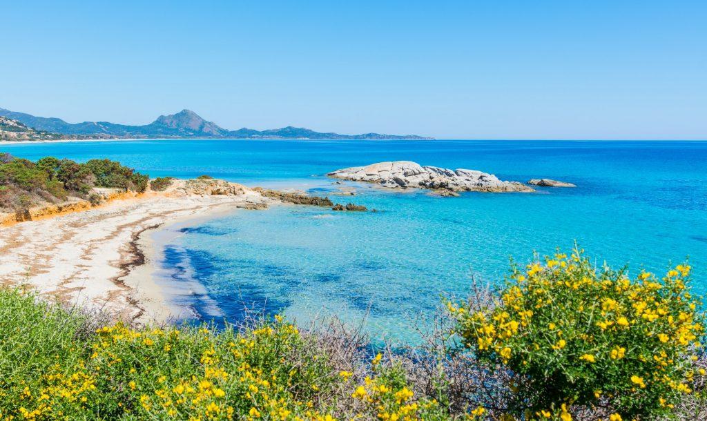 Scoglio di Peppino beach on a sunny day