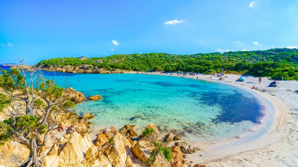 Spiaggia del Principe beach of Emerald coast east Sardinia island 1