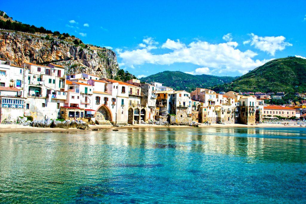 beautiful coast cefalu palermo sicily