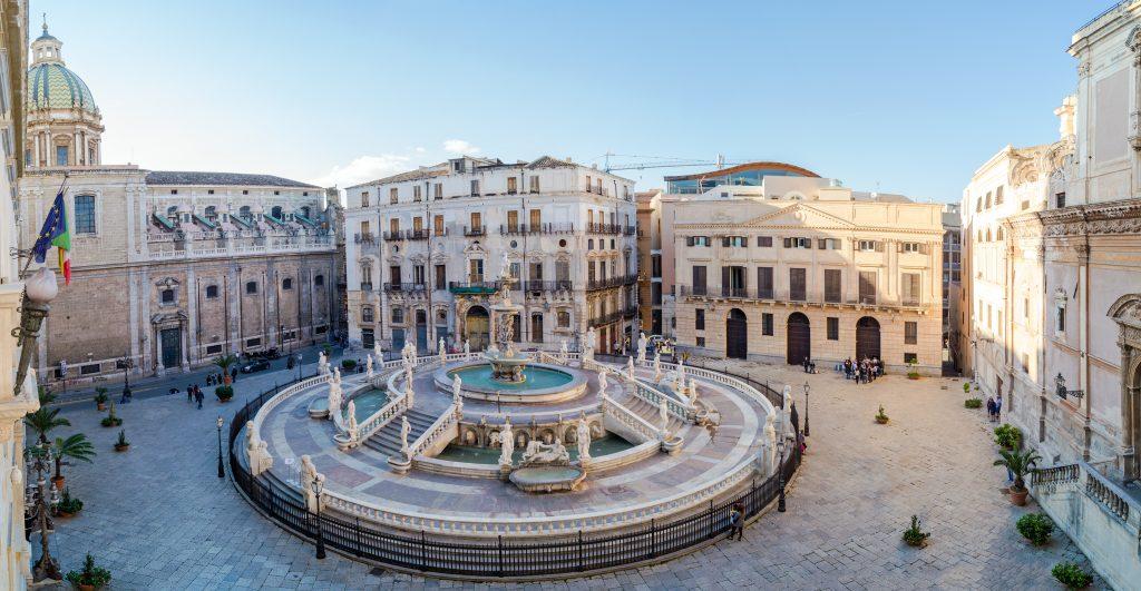panoramic view piazza pretoria della vergogna