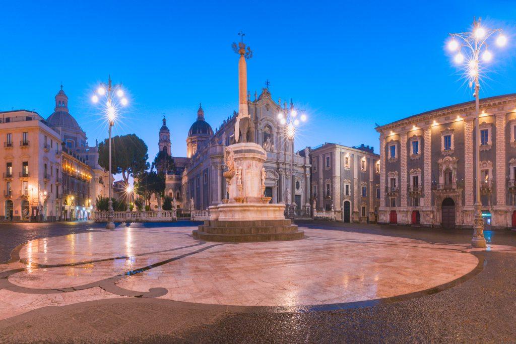 piazza duomo catania cathedral santa agatha