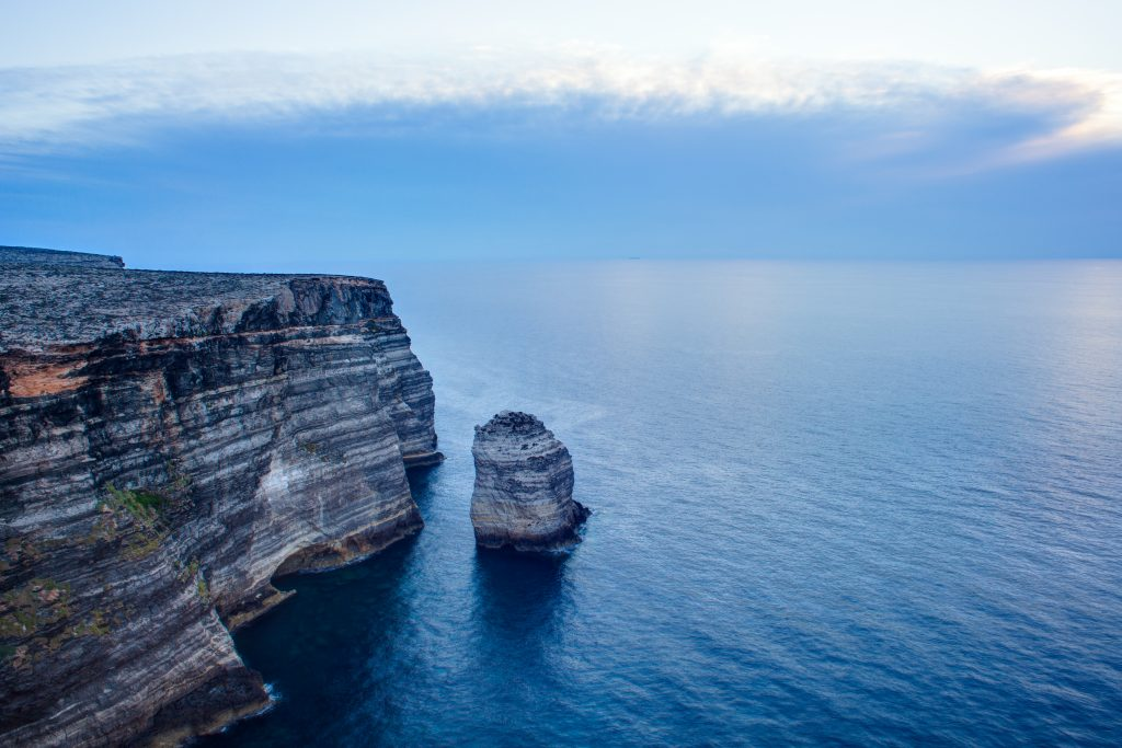view famous cliff called sacramento lampedusa